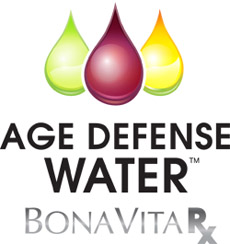 Bona Vita RX Age Defense Water(TM) Logo